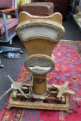 An antique set of weighing scales