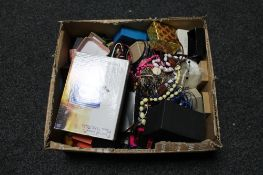 A box of costume jewellery,