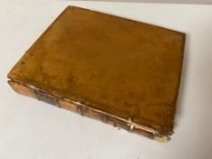 An early 19th century leather bound volume - Provicie Di Napoli,