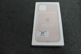 Apple : iPhone 11 Pro Max Smart Battery Case, model A2180, pink, brand new & boxed. (R.R.P. £129.