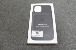 Apple : iPhone 11 Pro Smart Battery Case, model A2184, black, brand new & boxed. (R.R.P. £129.