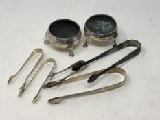 Two Georgian silver salts,