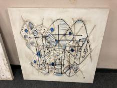 20th century school, abstract oil on canvas,