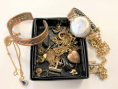 A box of costume jewellery,