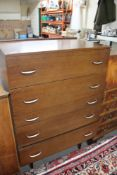 A mid century five drawer chest