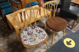 A pair of Ercol kitchen chairs