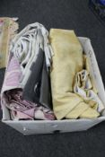 A box of contemporary curtains