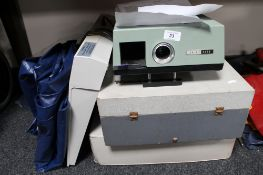 * Withdrawn *A vintage 35mm projector, light box,