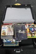 A Samsonite hard luggage case