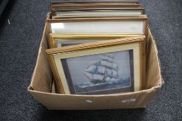 A box of pictures and prints