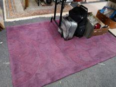 A contemporary purple rug
