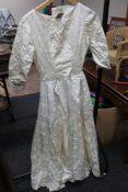 A cream long vintage dress