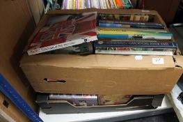 Two boxes of books,