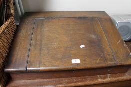 A Victorian oak clerk's desk