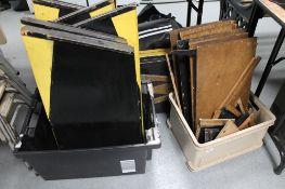 A quantity of wooden folding panels