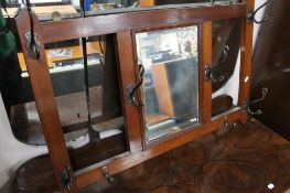 An Edwardian mahogany mirrored hall stand