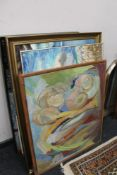 A quantity of pictures, oils,