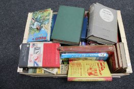 A box of books, Corinthians and Cricketers,