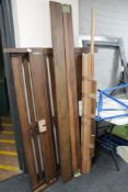 A 4'6 wooden bed frame