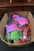 A box of phaze clothing