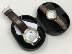 Two Newcastle commemorative wristwatches