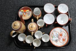 Two part Japanese coffee sets