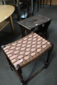 An antique stool and footstool (2)