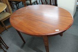 A mahogany oval occasional table