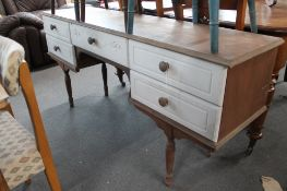 A traditional style painted dressing table