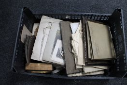 A crate of photographs,