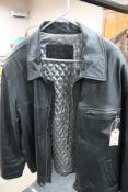 A black gent's leather coat