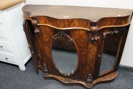 A Victorian mirrored side cabinet CONDITION REPORT: Lacking top.