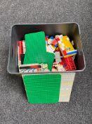 A box of vintage Lego