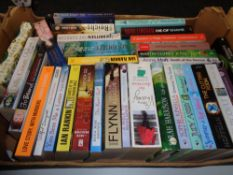 A box of paperback books; novels to include Tess Gerritsen,