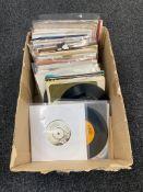 A box of a quantity of 45 singles including Aretha Franklin etc