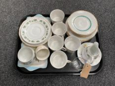 A tray of continental tea china,