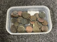 A collection of George III copper coinage