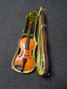 A viola and bow in case