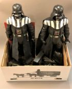 Two large Star Wars Darth Vader figures, one in original packaging, other Darth Vader collectables,
