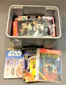 A collection of Star Wars ephemera including Star Wars Episode I scrap book,