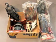 A collection of Disney Star Wars figures including three Kylo Wren, two in original packaging,