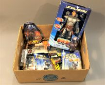 A collection of boxed Star Wars Hasbro figures : Jango Fett, etc, all in original packaging.