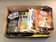 A collection of Star Wars collector's items and accessories : Star Wars The Force Awakens make your
