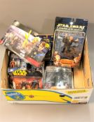 A collection of Hasbro and Disney boxed Star Wars figures : Darth Vader, Twilight of The Republic,