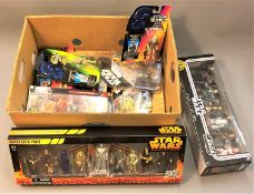 A collection of boxed Star Wars figures : Star Wars Episode III Revenge of the Sith collector pack,