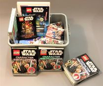 A quantity of Lego Star Wars models and related material including Lego Star Wars character