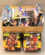 A collection of Star Wars jigsaw puzzles, panoramic puzzles,