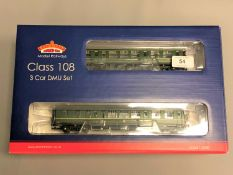 Bachmann - 32-913 Class 108 Three Car DMU BR Green Speed Whiskers, boxed.