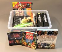 A collection of Star Wars related ephemera including a collection of annuals, Star Wars data files,