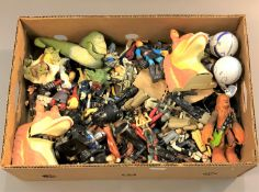 A large quantity of unboxed Star Wars action figures, Star Wars blaster etc.
